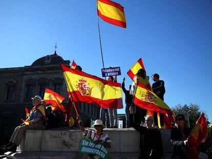 Concentración en defensa de la unidad de España, en la Plaza de Colón de Madrid.