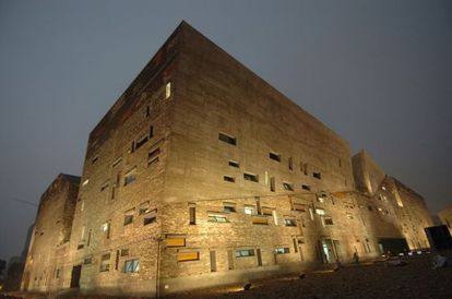 Museo Ningbo, en el Este de China, diseñado por el arquitecto Wang Shu, que recibió el Premio Pritzker en 2012.
