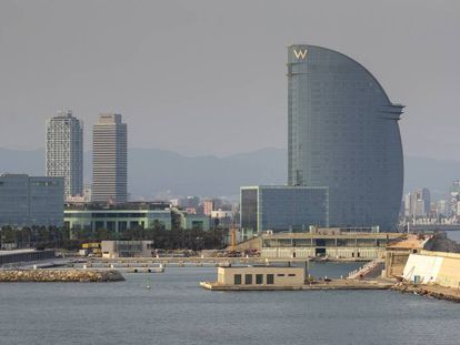 Los terrenos de la nueva bocana del puerto donde se tiene que construir el Hermitage
