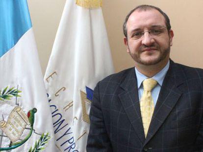 Luis Fernando Carrera, ministro de Relaciones Exteriores de Guatemala.