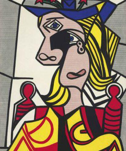 'Mujer con Sombrero Floreado', de Roy Lichtenstein.