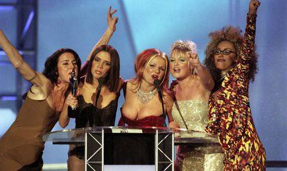 Las Spice Girls en los Brit Awards en 1997.