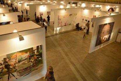 Algunas de las galerías durante la celebración de la feria.