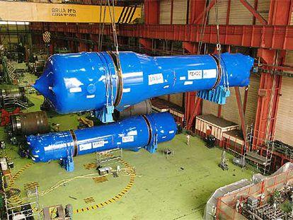 Embarque de generadores de vapor de Ensa hacia la central estadounidense de Beaver Valley.