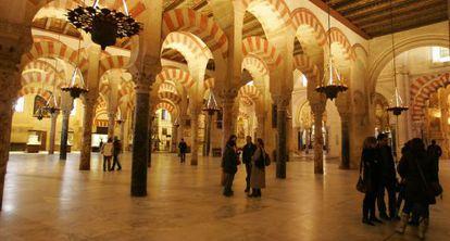 Vista del interior de la Mezquita de Córdoba.