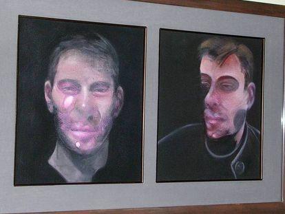 Dos de las obras de Francis Bacon robadas en Madrid.