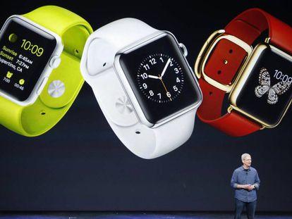 Tim Cook presenta el Apple Watch 2.