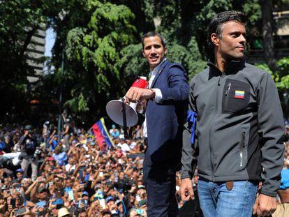 Leopoldo López, el pasado 30 de abril en Caracas tras su liberación del arresto domiciliario.