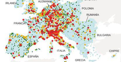 Fuente: Agencia Europea de Medio Ambiente.