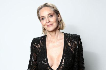 Sharon Stone, en una gala benéfica en febrero de 2020 en Los Ángeles, California.