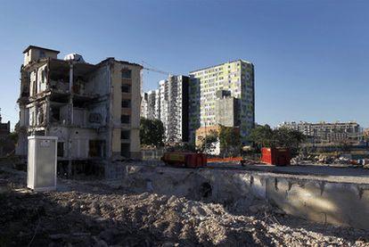 Edificios derribados en las calles de Alpedrete y Alamedilla, en Méndez Álvaro
