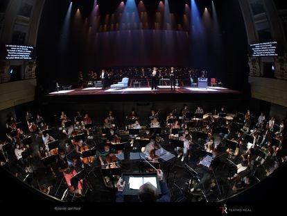 Ensayo general de 'La traviata' en el Teatro Real.