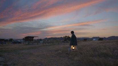 Frances McDormand en una imagen de 'Nomadland'.
