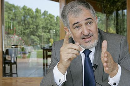 Cándido Conde-Pumpido, en un momento de la entrevista.