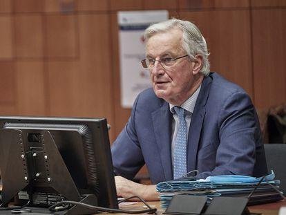El negociador de la UE, Michel Barnier, en el Consejo Europeo.