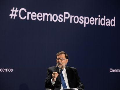 Mariano Rajoy, el pasado lunes, en la convención del PP.