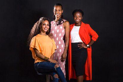 Las integrantes del Equipo del Decenio. De izquierda a derecha, Isabelle Mamadou, Esther Mamadou y Rachel Baseme.