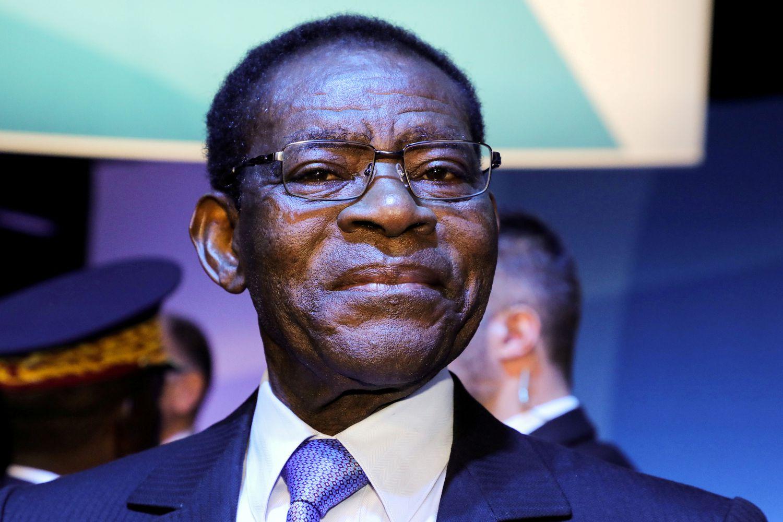 El presidente de Guinea Ecuatorial, Teodoro Obiang, en el Foro de la Paz de París en 2019.