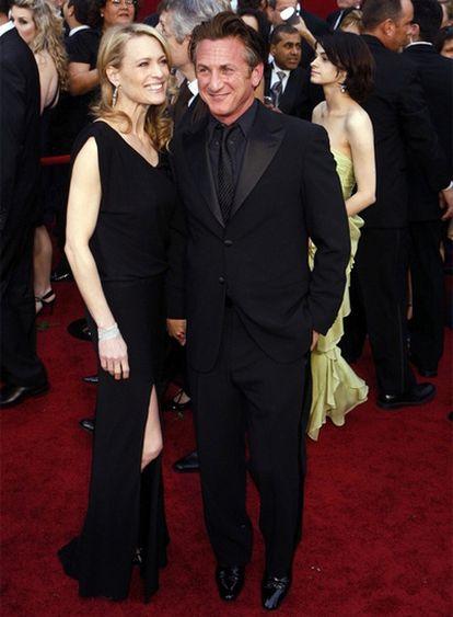 Robin Wright y Sean Penn, durante la última ceremonia de los Oscars.