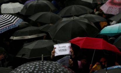 Movilización contra los feminicidios en Buenos Aires, el pasado 19 de octubre.