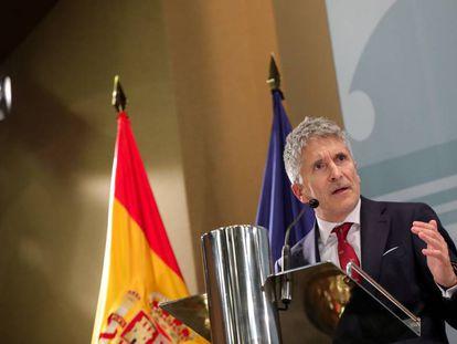 Fernando Grande-Marlaska,  tras tomar posesión por segunda vez de su cargo como ministro del Interior.
