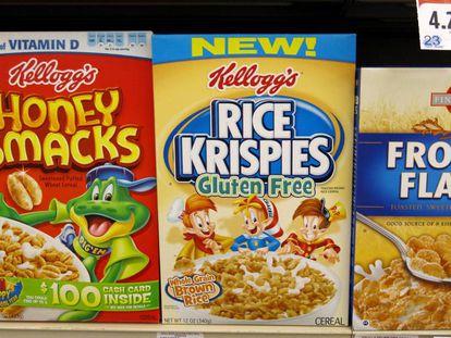 Etiquetado sin gluten en un alimento infantil.
