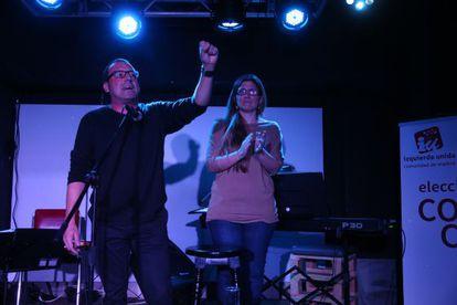 Cierre de campaña para las primarias de IU de Raquel López y José Antonio Moreno.