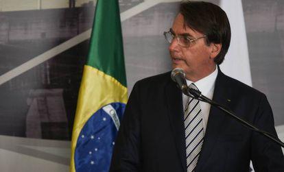Jair Bolsonaro, este martes en Itaipú (Paraguay).