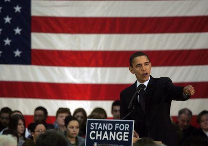 Barack Obama cuando era candidato a la presidencia en diciembre de 2007.