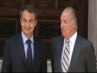 Zapatero se reúne con el Rey en Marivent