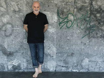 Fernando Aramburu, el pasado julio en San Sebastián.