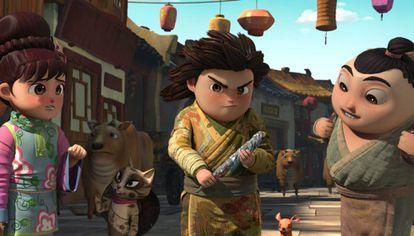 Escena del filme 'El pincel mágico', dirigido por Zhong Zhixing.