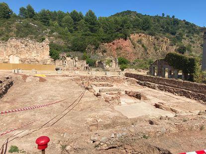 Trabajos recientes de excavación en ScalaDei, Tarragona.