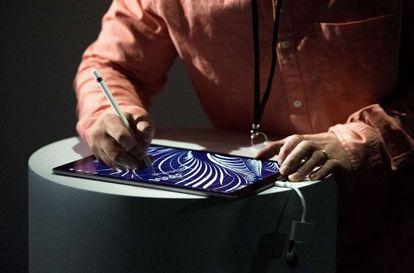 La tableta iPad Pro con Pencil durante su presentación el 9 de septiembre.