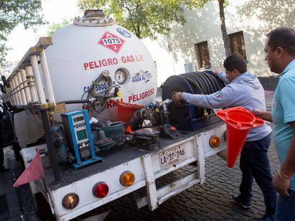 Un camión de distribución de gas LP, en México.