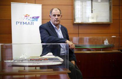 Álvaro Platero, en la sede de Pymar en Madrid