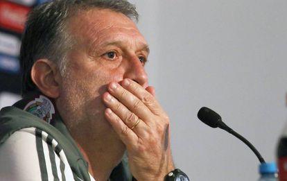 Martino, durante una conferencia de prensa.