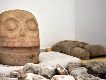 Los hallazgos en el templo de Xipe Tótec, dios del desollamiento.