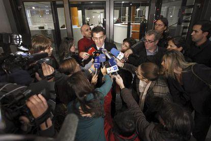 Alberto Núñez Feijóo, atiende a la prensa