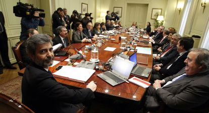 Pleno del Consejo General del Poder Judicial celebrado el pasado mes de diciembre.