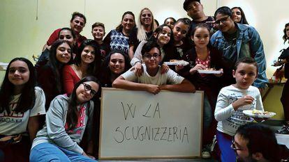 Los alumnos de la escuela de teatro.