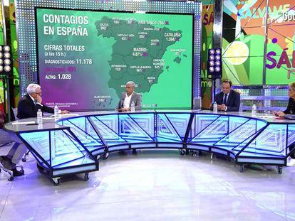 Una imagen de 'Sálvame', programa de Telecinco, este martes.