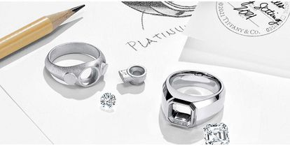 New models of engagement rings for men from Tiffany & Co.