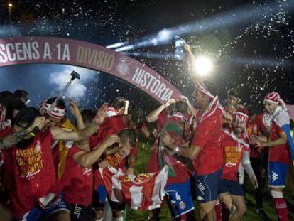 El equipo gerundense, tras perder ocasiones de oro en 2013, 2015 y 2016, logra su objetivo y el próximo curso se estrenará en la elite del fútbol español