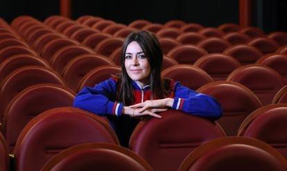 """La cantante Maika Makovski en el cine Doré, donde actuará este domingo dentro del ciclo """"Sound and Vision Filmoteca."""
