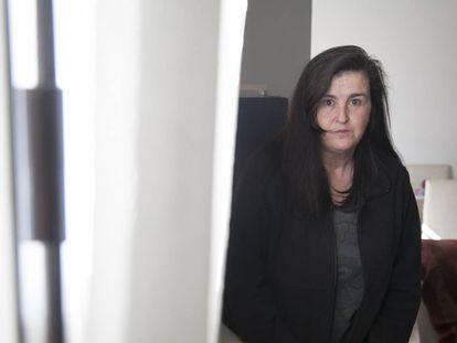 Miriam Moraleda, víctima de violencia de género, en su domicilio.