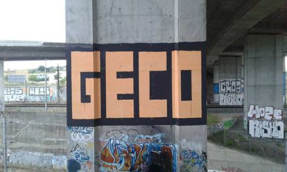 Pintada de Geco en Lisboa.