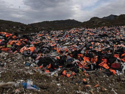La situación de Lesbos, en imágenes