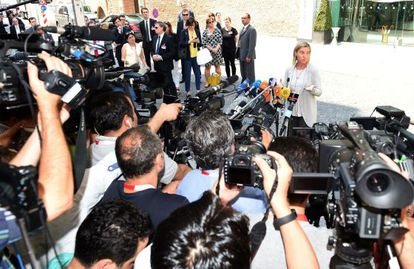 La jefa de la diplomacia europea, Federica Mogherini, prevé quedarse en Viena para seguir negociando con el secretario Kerry y el iraní Zarif