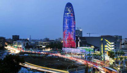Torre Agbar de Barcelona, una de las candidatas a albergar la agencia del medicamento.